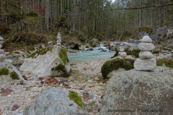 Viele Stoamandl (Steinmännchen) gibt es im Zauberwald