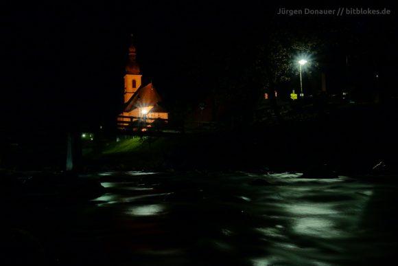 St. Sebastian in Ramsau bei Nacht mit der Sony RX 100 III
