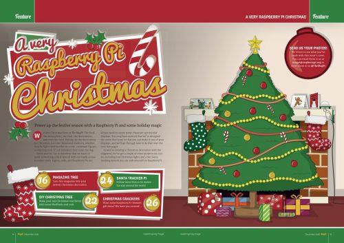 Beim MagPi 52 dreht sich alles um Weihnachten (Quelle: raspberrypi.org)