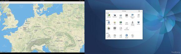 Fedora 25 Workstation: zwei Bildschirme