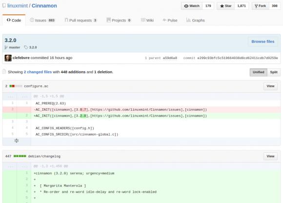 Cinnamon 3.2 liegt auf GitHub bereit