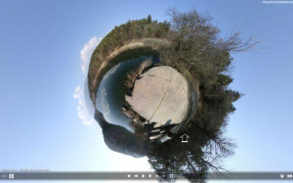 VLC 360 unterstützt die Little-Planet-Ansicht ebenfalls