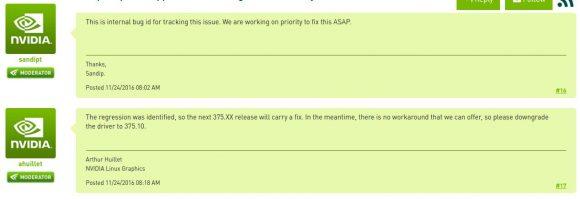 NVIDIA bestätigt Probleme mit Treiber 375.20