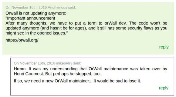 orWall - wird es nun weiterentwickelt oder nicht?