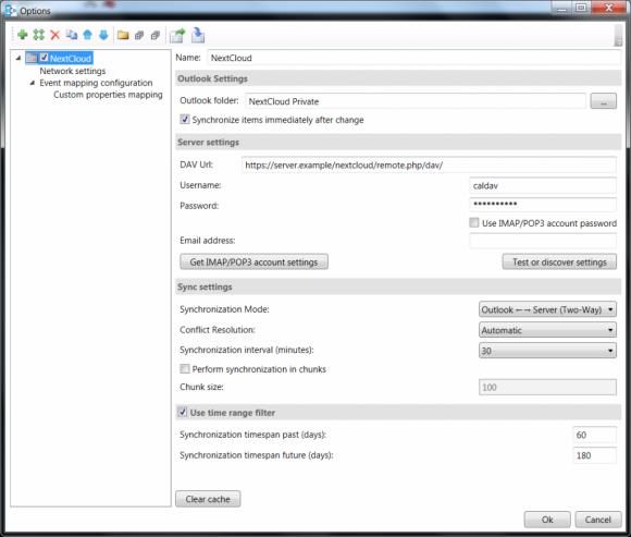 Outlook CalDAV Synchronizer (Quelle: nextcloud.com)