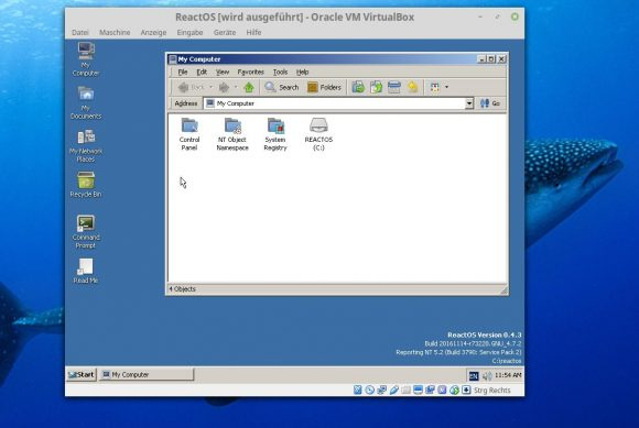 ReactOS 0.4.3 in VirtualBox
