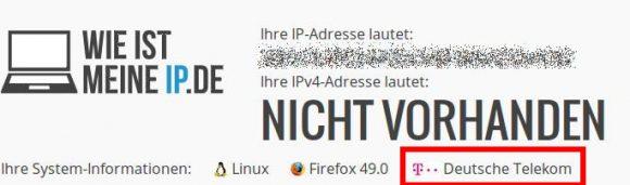 Trotz VPN kann mich wieistmeineip.de eindeutig der Deutschen Telekom zuordnen