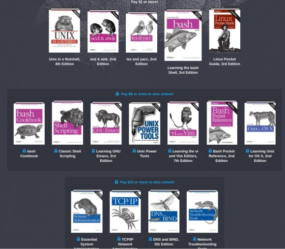 Humble Book Bundle Unix
