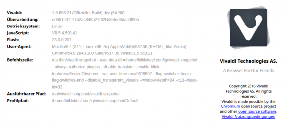 Vivaldi 1.5 RC 1 ist testbereit