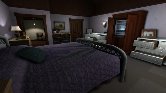 Schlafzimmer bei Gone Home (Quelle: holarse-linuxgaming.de)