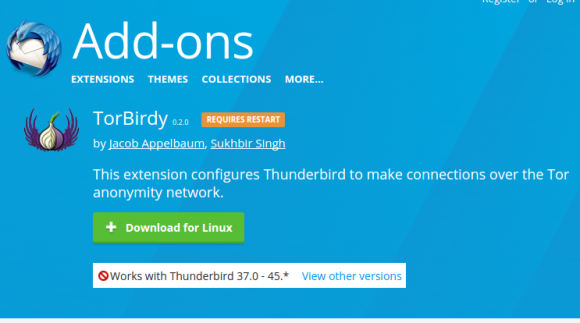 TorBirdy ist ein Thunderbird Add-on