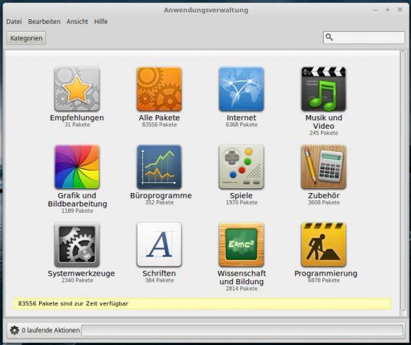 Linux Mint 18.1: Anwendungsverwaltung