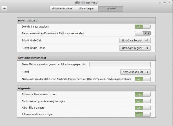 Linux Mint 18.1: Bildschirmschoner anpassen