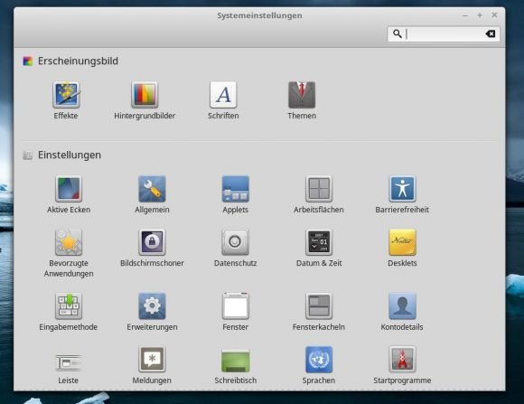 Linux Mint 18.1: Einstellungen