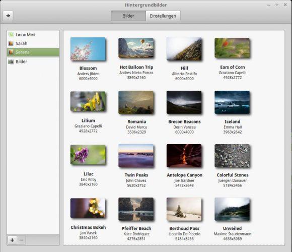 Linux Mint 18.1: Hintergrundbilder / Wallpaper