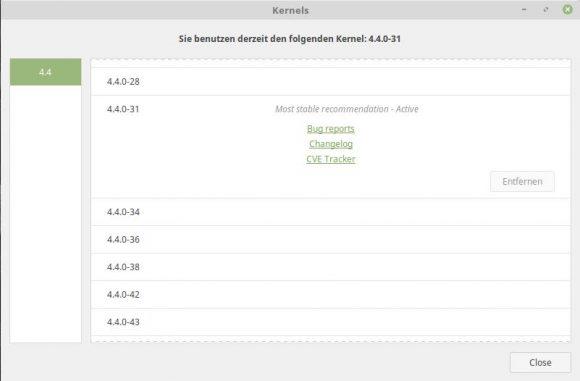 Linux Mint 18.1: Kernel