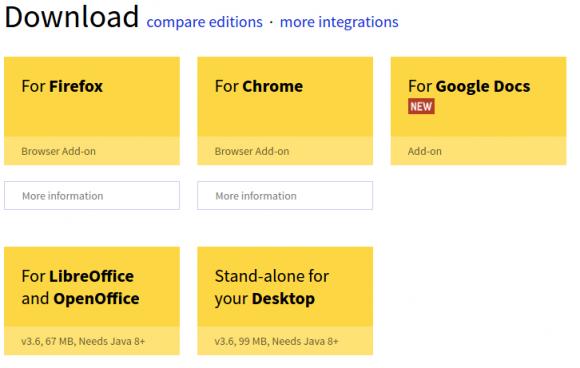 LanguageTool 3.6 für Firefox, Chrome, Desktop, LibreOffice und Google Docs
