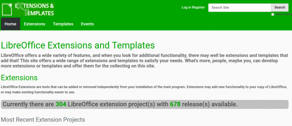 Templates & Extensions für LibreOffice