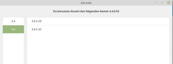 Linux MInt 18.1 mit Linux-Kernel 4.8 bestücken