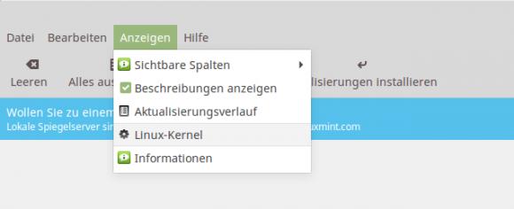 Linux-Kernel anzeigen