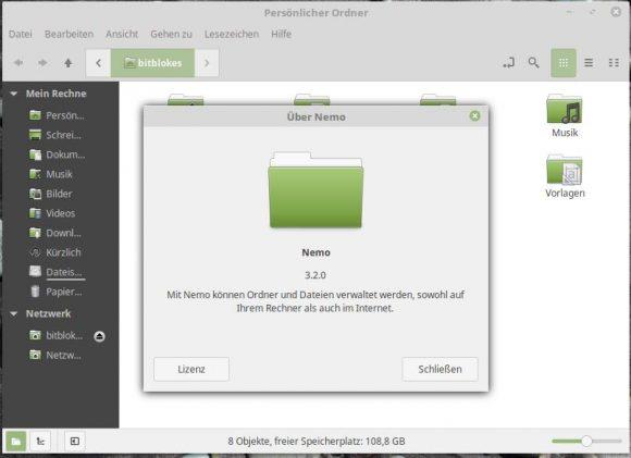 Linux Mint 18.1: Nemo 3.2