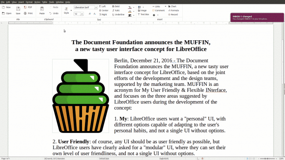 Notebookbar in LibreOffice 5.3 (Quelle: documentfoundation.org)