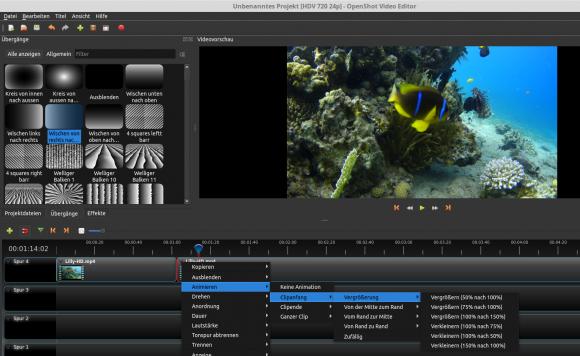 OpenShot 2.2: Animieren