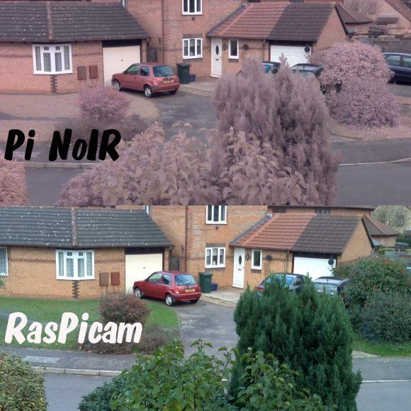 Unterschied zwischen Kamera Modul und NoIR-Modul (Quelle: raspi.tv)