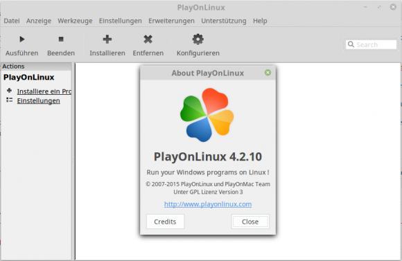 PlayOnLinux macht die Benutzung mehrerer Wine-Versionen zum Kinderspiel