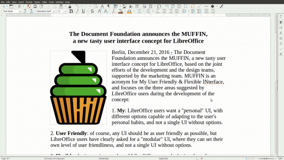 MUFFIN - Standard (Quelle: documentfoundation.org)