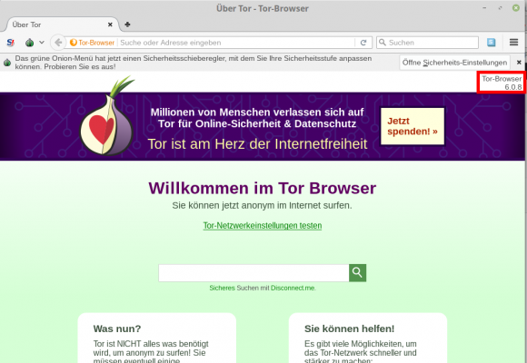 Tor Browser 6.0.8