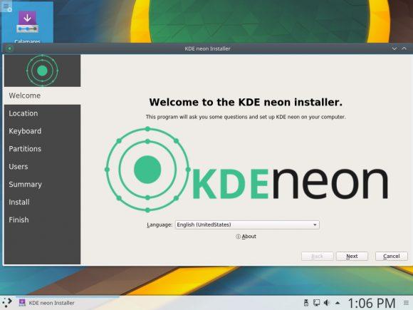KDE Neon setzt künftig auf Calamares als Installer (Quelle: jriddell.org)