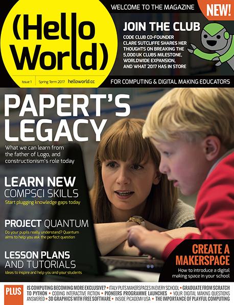Hello World ist ein neues Magazin für Lehrer (Quelle raspberrypi.org)