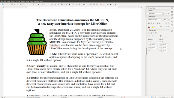 LibreOffice Writer - Sidebar (Quelle: libreoffice.org)