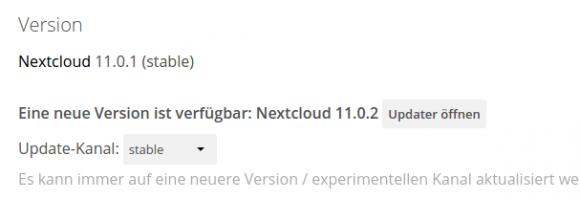 Nextcloud 11.0.2 ist da