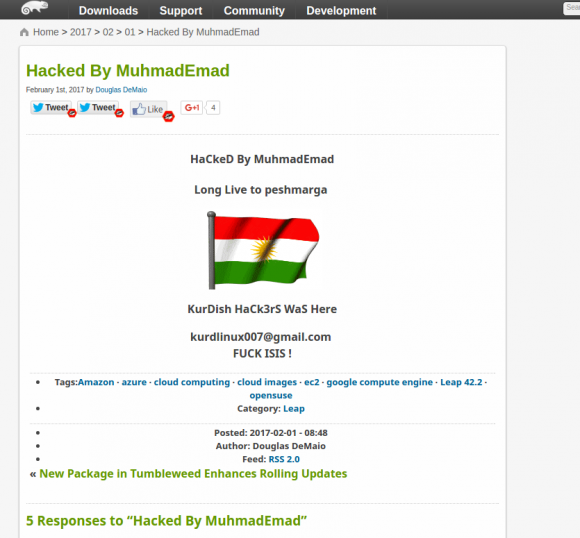 openSUSE gehackt ...
