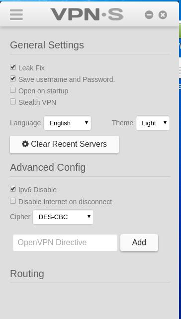 Bei VPNSecure kannst Du IPv6 deaktivieren