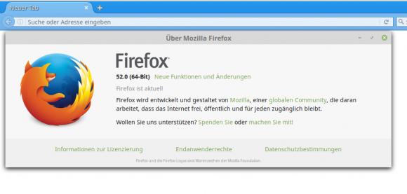 Mozilla Firefox 52 ist veröffentlicht