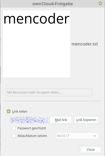ownCloud Client 2.3.0 und die Freigaben