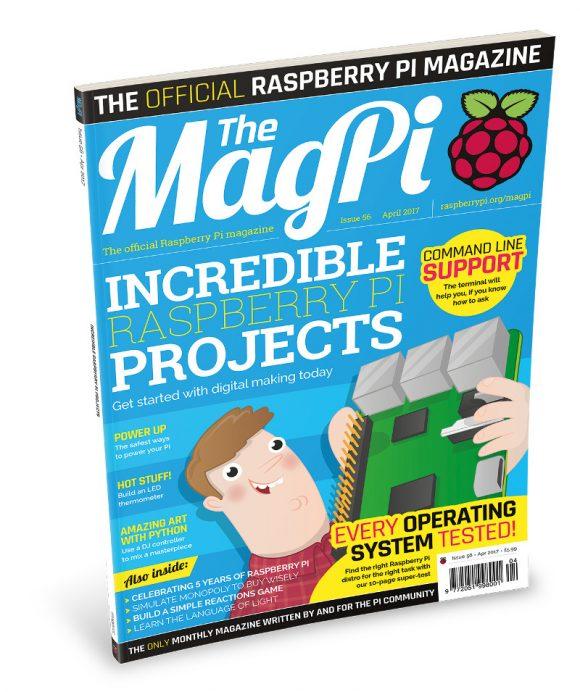 MagPi 56 ist da (Quelle: raspberrypi.org)