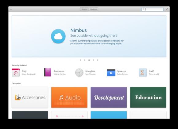 Das neue AppCenter in elementaryOS 0.4.1 (Quelle: elementary.io)