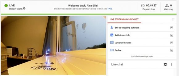 YouTube Live Dashboard (Quelle: alexellis.io)