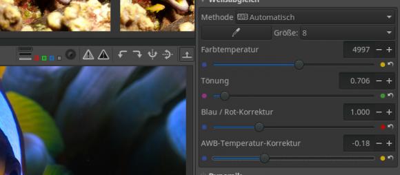 AWB-Temperatur-Korrektur