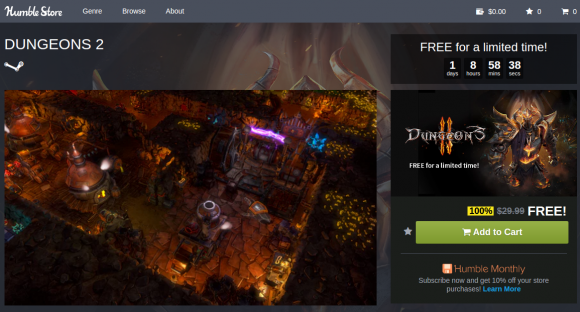 Dungeons 2 - derzeit kostenlos im Humble Store