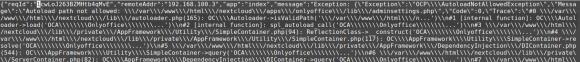 Nextcloud-Fehler im Log