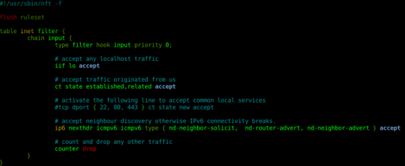nano mit Syntax Highlighting für nfstables (Quelle: ral-arturo.org)