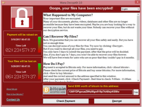 Ransomware WannaCry wütet weltweit (securelist.com)