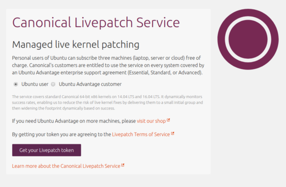 Canonical Livepatch