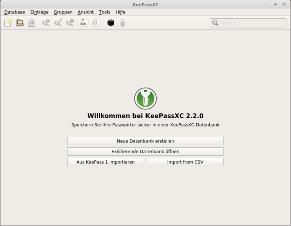 KeePassXC 2.2.0 AppImage