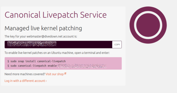 Canonical Livepatch Installations-Anweisung